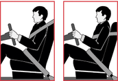 How to correctly wear a seat belt