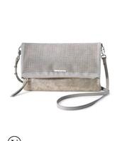 Waverly Petite - Slate Grey / Perforated brushed metallic $42