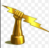Zeus Holding Lighting Bolt