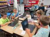 Our new Chromebooks are fun to work on!