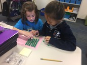 Creating an array with manipulatives