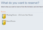 What Do you want to reserve?