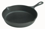 Iron is used for cook ware and other items.