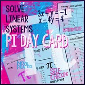 Solving Linear Systems Pi Day Card