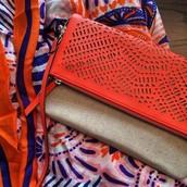 Waverly Crossbody ($98) & Union Square Scarf in Fresh Tangerine ($59)