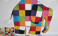Our mascot, Elmer the Patchwork Elephant