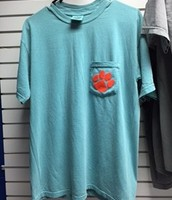 Turquoise Comfort Colors Pocket-T - $15.00