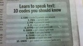 Codes for sexting that teenagers use