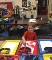 Engaging work in kindergarten.