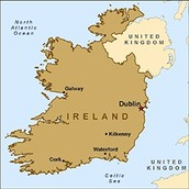 Ireland is an island off the coast of the United Kingdom