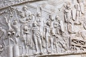 Bas-Relief on Trajan's Column in Rome