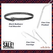 Sterling Silver Pendant & Earrings, Radiance Coil Bracelet