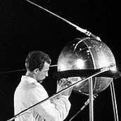 Soviet Scientist working on Sputnik 1