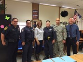 We had members of the Sheriff's Department who attended the Ceremony and read in several of our classrooms.