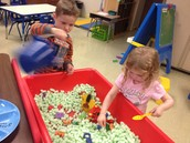 Oh how we still love our sensory bin too!