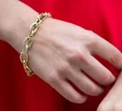 Christina Link Bracelet- Gold
