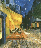 Cafe Terrace on Place du Forum, Arles, at Night