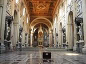 inside of the papal church of St. John Lateran