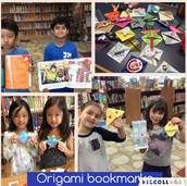This is the last week for the origami bookmark maker space!