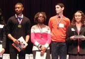 Louisa Williams accepts her Camden County Scholarship