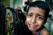 sad children who have been injured