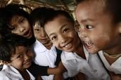 Burmese children at school in Mae Sot