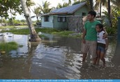 About The effects global warming and rising sea levels are having on Tuvalu