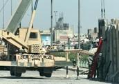 US SEAL's set up concrete walls