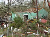 This is damage that a F2 tornado makes.