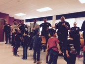 Police, detectives, and the HWY Patrol learn our Cubbie Chant!