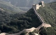 Here is a far away picture of the Great Wall of china.
