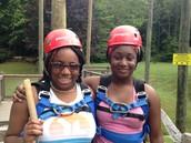 Carver High girls at Windy Gap