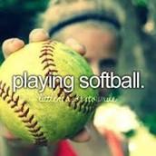 Playing Softball