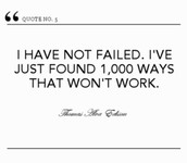 How many times has Thomas Edison failed?