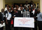 The out-gone Literacy Fellows during the 2015 International Literacy Day event held at the University of Ibadan, Nigeria