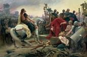 Julius Caesar in battle