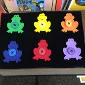 Weekly Button Fastening Game - (Frogs for Pesach)