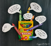 """Cute idea for """"The Day the Crayons Quit!"""""""