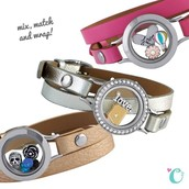 New Leather Wrap Twist Locket Bracelets
