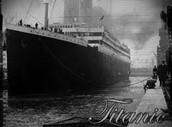 Het vertrekt van Titanic.