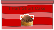 "Tub of ""I Hart Short Cake"""