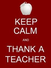 Teacher Appreciation Week/Semana del aprecio del profesor