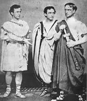 three brothers in Shakespeare costume