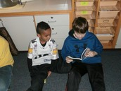 Me reading to a 3rd grader