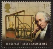 JAMES WATT WITH HIS STEAM ENGINE