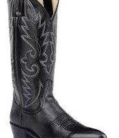 black cowgirl boots.