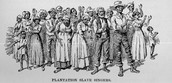 Image of a group of slave singers on U.S. plantation.