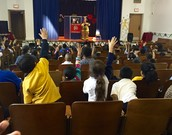 Students enjoyed the presentation, and learned about fire safety.