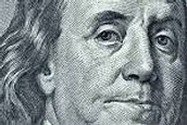 Franklin on the 100 Dollar Bill