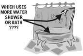 take a shower not a bath!